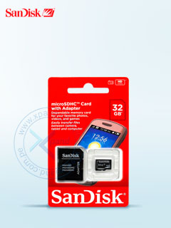 MICROSD SANDISK W/ADAPTER 32GB