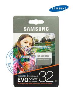 Memoria Samsung MicroSDHC EVO, 32GB, UHS-I, Grado 1, Clase 10, con Adaptador SD.