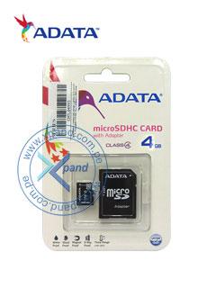 Memoria Flash microSDHC Adata Class 4 UHS-I, 4 GB, con adaptador SD