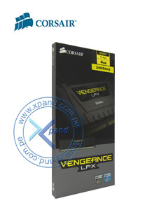 Memoria Corsair Vengeance LPX, 4GB, DDR4, 2400MHz, CL16, negro.