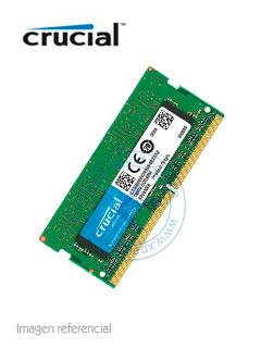 Memoria SODIMM Crucial CT4G4SFS624A, 4GB, DDR4, 2400 MHz, PC4-19200, CL17, 1.2V.