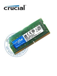 Memoria Crucial CT4G4SFS824A, 4GB, DDR4, 2400 MHz, SO-DIMM, CL17, non-ECC, 1.2V.