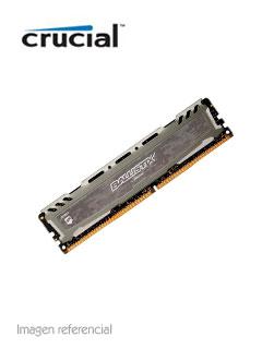 Memoria Crucial Ballistix Sport LT Gray, 8GB, DDR4, UDIMM, 2400 MHz, Non-ECC.