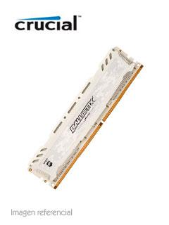 Memoria Crucial Ballistix Sport LT White, 8GB, DDR4, UDIMM, 2400 MHz, Non-ECC.