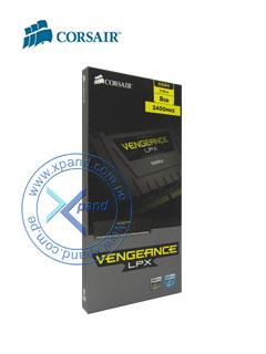 Memoria Corsair Vengeance LPX, 8GB, DDR4, 2400MHz, CL16, negro.