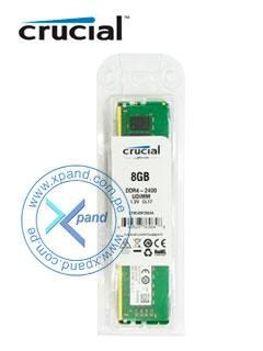 Memoria Crucial CT8G4DFD824A, 8GB, DDR4, 2400 MHz, PC4-19200, UDIMM, CL17, 1.2V.