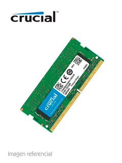 Memoria SODIMM Crucial CT8G4SFS8266, 8GB, DDR4, 2666 MHz, PC4-21300, CL19, 1.2V.
