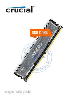 Memoria Crucial Ballistix Sport LT Gray, 8GB, DDR4, 2666 MHz, PC4-21300, CL16, UDIMM, 1.2V