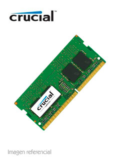 Memoria Crucial CT8G4SFD824A, 8GB, DDR4, 2400 MHz, SO-DIMM, CL17, non-ECC, 1.2V.