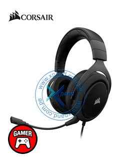 Auriculares Gaming Corsair HS50, micrófono desmontable, 3.5mm, Carbon