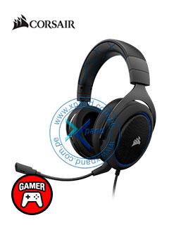 Auriculares Gaming Corsair HS50, micrófono desmontable, 3.5mm, Azul