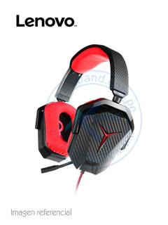 Auriculares Gaming Lenovo Y, 50mm, 3.5mm, Negro/Rojo, microfono.