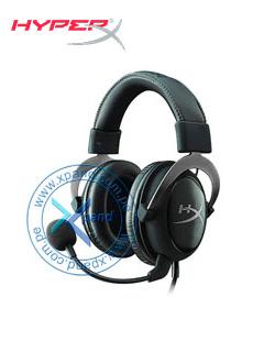 Auriculares Kingston HyperX Cloud II, micrófono, conector 3.5mm, Negro / Gun Metal.