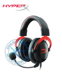 Auriculares Kingston HyperX Cloud II, micrófono, conector 3.5mm, Negro / Rojo.