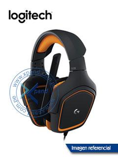 Auricular Gaming Logitech G231 Prodigy, control en linea, micrófono, conector 3.5mm.