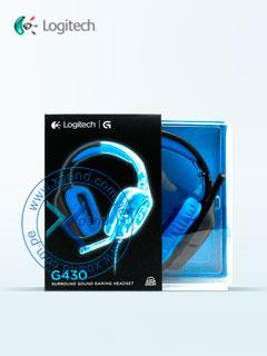 Auriculares Logitech G430, sonido envolvente 7.1, control de volumen, micrófono, USB.