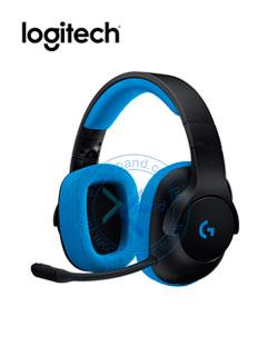 Auriculares Gaming Logitech G233 Prodigy, con micrófono extraíble, 3.5mm, Negro / Azul.