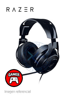 Auriculares Gaming Razer ManoWar 7.1, 50mm, 32 Ohm, Negro, microfono, 3.5mm, USB.