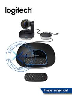 Sistema para videoconferencias Logitech GROUP para medianas y grandes salas de reuniones.