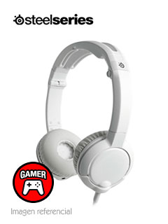 Auriculares Gamer SteelSeries Flux, Estereo, micrófono retráctil, 3.5mm, Blanco.