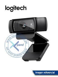Cámara web Logitech Pro HD C920, Full HD 1080p, USB 2.0.