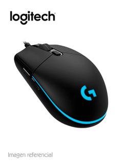Mouse Gamer Logitech G Pro, 16 000 dpi, 6 botones programables, Negro, USB.