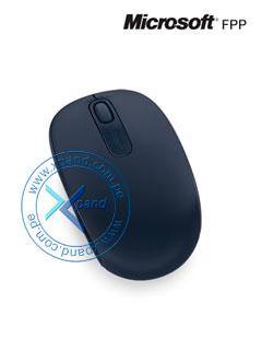 Mouse óptico inalámbrico Microsoft Mobile 1850, 1000dpi, Receptor USB, 2.4GHz, Azul.
