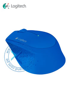 Mouse óptico inalámbrico Logitech M280, 1000 dpi, Receptor USB, 2.4GHz, Azul.