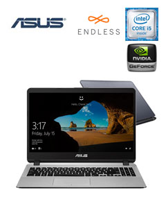 "Notebook Asus X507UB-BR349, 15.6"", Intel Core i5-8250U 1.60GHz, 4GB DDR4, 1TB SATA"