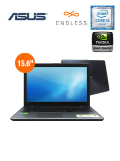"Notebook Asus X542UN-GQ154, 15.6"", Intel Core i5-8250 1.60GHz, 8GB DDR4, 1TB SATA."
