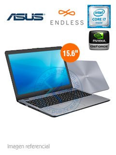 "Notebook Asus X542UQ-DM129, 15.6"" FHD, Intel Core i7-7500U 2.70GHz, 12GB DDR4, 1TB SATA."