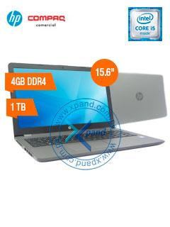 "Notebook HP 250 G6, 15.6"" HD, Intel Core i5-7200U 2.50GHz, 4GB DDR4, 1TB SATA."