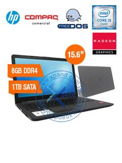 """Notebook HP 15-BS036LA, 15.6"""", Intel Core i5-7200U 2.5GHz, 8GB DDR4, 1TB SATA."""