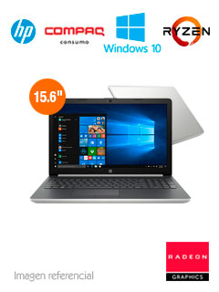 "Notebook HP 15-db0009la, 15.6"", AMD Ryzen 3 2200U 2.5GHz, 8GB DDR4, 1TB SATA."