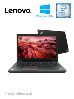 "Notebook Lenovo ThinkPad P52, 15.6"", Intel Core i7-8850H 2.60GHz, 16GB DDR4."