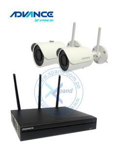 Kit Cámaras IP Wireless Advance CAMWS22, 2 cámaras, NVR con disco de 1TB, Dia/Noche.