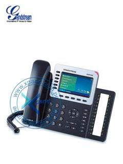 "Teléfono IP GRANDSTREAM GXP2160, 6 líneas, LCD 4.3"" color, RJ-45 Gigabit PoE, Bluetooth."