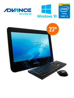 "All-in-One Advance AIO AI1950, 23"" LED, Intel Core i3-3220 3.30GHz 4GB DDR3, 1TB SATA."