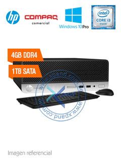 Computadora HP ProDesk 400 G4 SFF, Intel Core i3-6100 3.70GHz, 4GB DDR4, 1TB SATA.