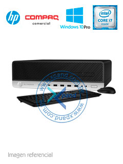 Computadora HP EliteDesk 800 G3 SFF, Intel Core i7-7700 3.6GHz, 16GB DDR4, 2TB SATA, V-Pro