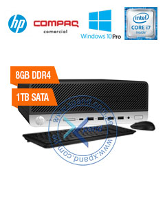 Computadora HP ProDesk 600 G3 SFF, Intel Core i7-6700 3.40GHz, 8GB DDR4, 1TB SATA, V-Pro.