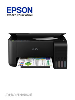 Multifuncional de tinta Epson EcoTank L3110, imprime/escanea/copia, USB.