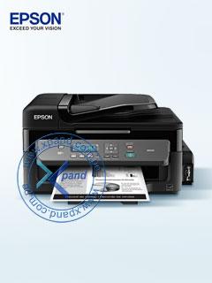 Multifuncional de tinta continua Epson WorkForce M205, imprime/escanea/copia, WiFi/USB 2.0