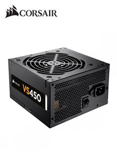 Fuente de alimentación Corsair VS Series VS450, 450W, ATX, 80 Plus White, 220VAC.