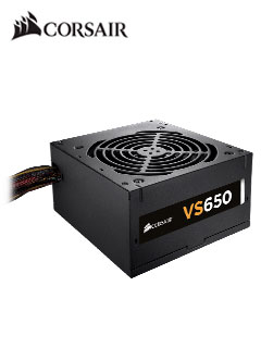 Fuente de alimentación Corsair VS Series VS650, 650W, ATX, 80 Plus White, 220VAC.