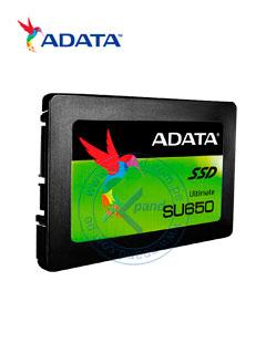 """Unidad de Estado Solido Adata SU650, 240GB, SATA 6Gb/s, 2.5"""", 7mm, 3D NAND."""