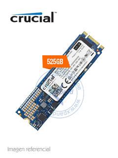 Unidad en estado solido Crucial MX300, 525GB, M.2 Tipo 2280.