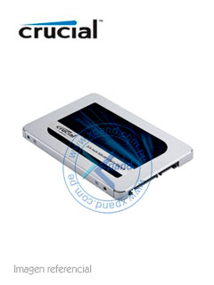 "Unidad de Estado Solido Crucial MX500, 250GB, SATA 6Gb/s, 2.5"", 7mm."