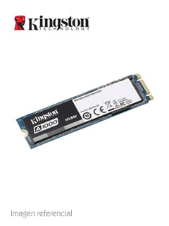 Unidad en estado solido Kingston A1000, 240GB, M.2, 2280, PCIe NVMe Gen 3.0 x2.