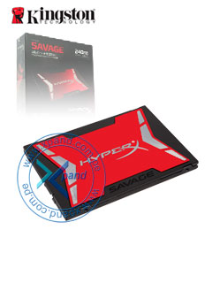 "Unidad de estado solido Kingston HyperX Savage, 240GB, SATA 6Gb/s, 2.5""."